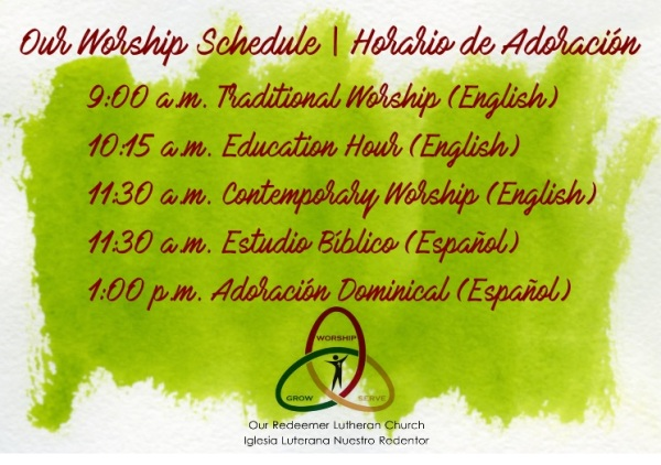 You are invited to worship with us! ¡Te invitamos a adorar con nosotros!